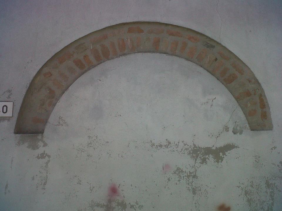 Particolare del muro posteriore