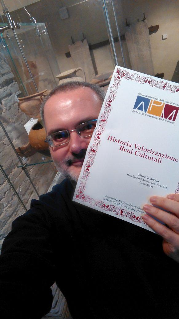 Attestazione appartenenza di Historia Snc all'Associazione Nazionale Piccoli Musei